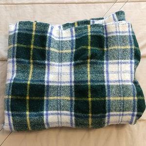 L. L. Bean Tartan Plaid Wool Blanket